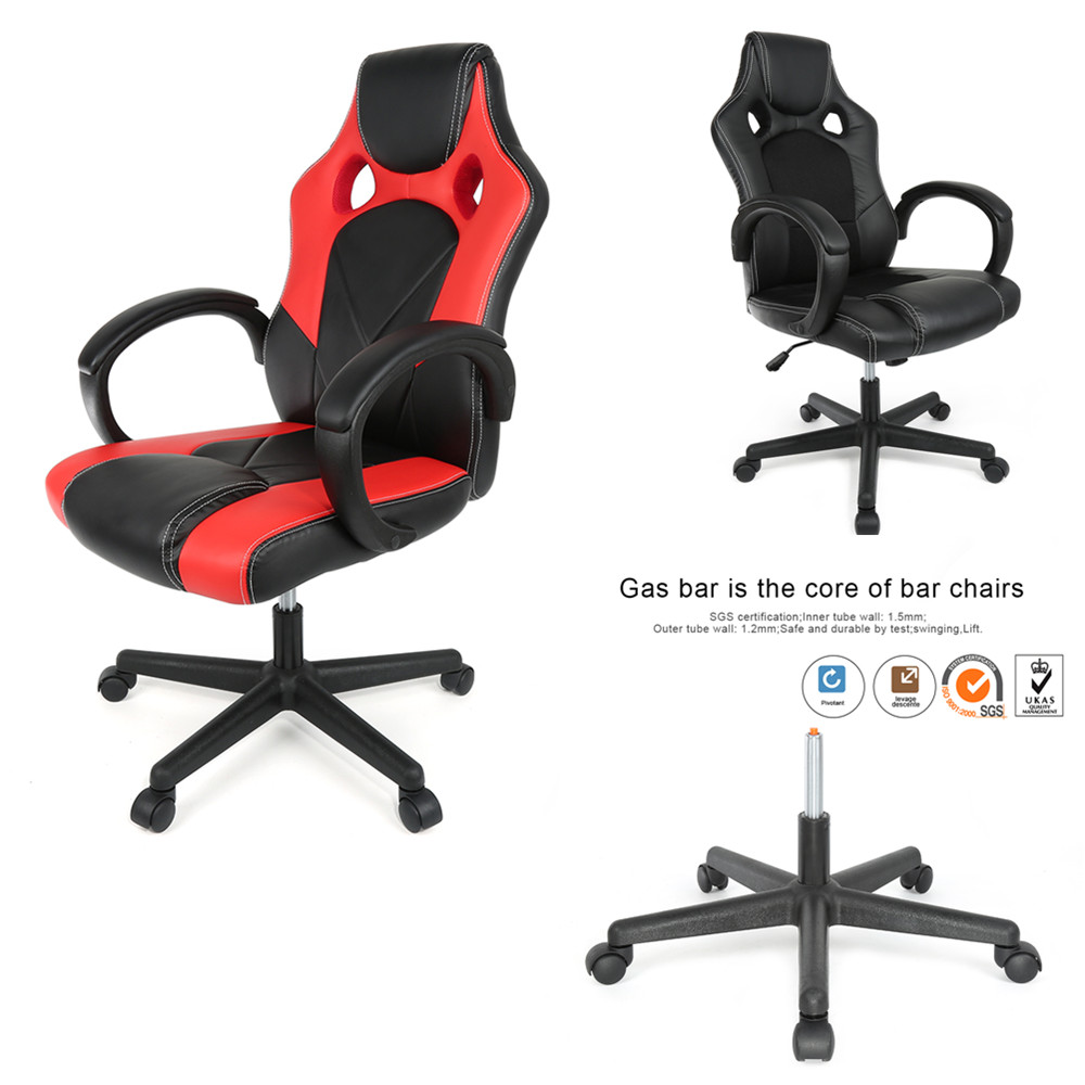Liftable Computer Chair Adjustable Swivel LOL Racing Game Chair Ergonomic Boss Office Chair Meeting Studying Silla With Handrail