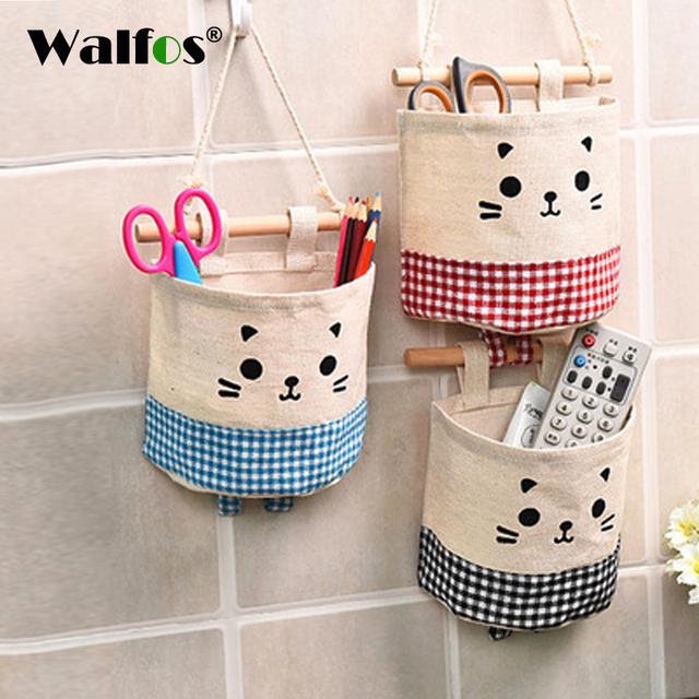 walfos storage bags creative wardrobe bag wall pouch household pouch