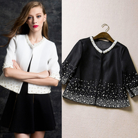 Her All Match Short Spring And Autumn Ladies Jacket Women Real Small Coat Thin White Shorts