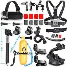 Zookkbb Accessories Kit Chest strap Monopod Floating Grip Suction Cup Bike Handlebar Holder for Gopro Hero 4 3+ SJCAM SJ4000