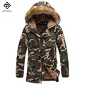 Men Cotton-Padded Coat 2016 Padded Coat Winter Jackets Veste Homme Parkas Men's Casual Fashion Slim Fit Hooded Camouflage Jacket