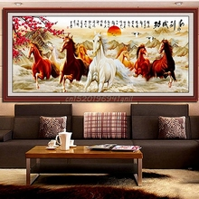 DIY 5D Horses Embroidery Diamond Painting Cross Stitch Kits Home Decor Crafts#T025#