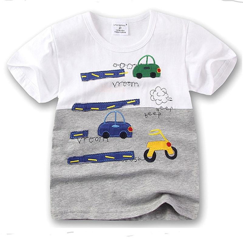 Kids Shirt Meskie Summer Car Enfant Camiseta Boys Top Tee Koszulka