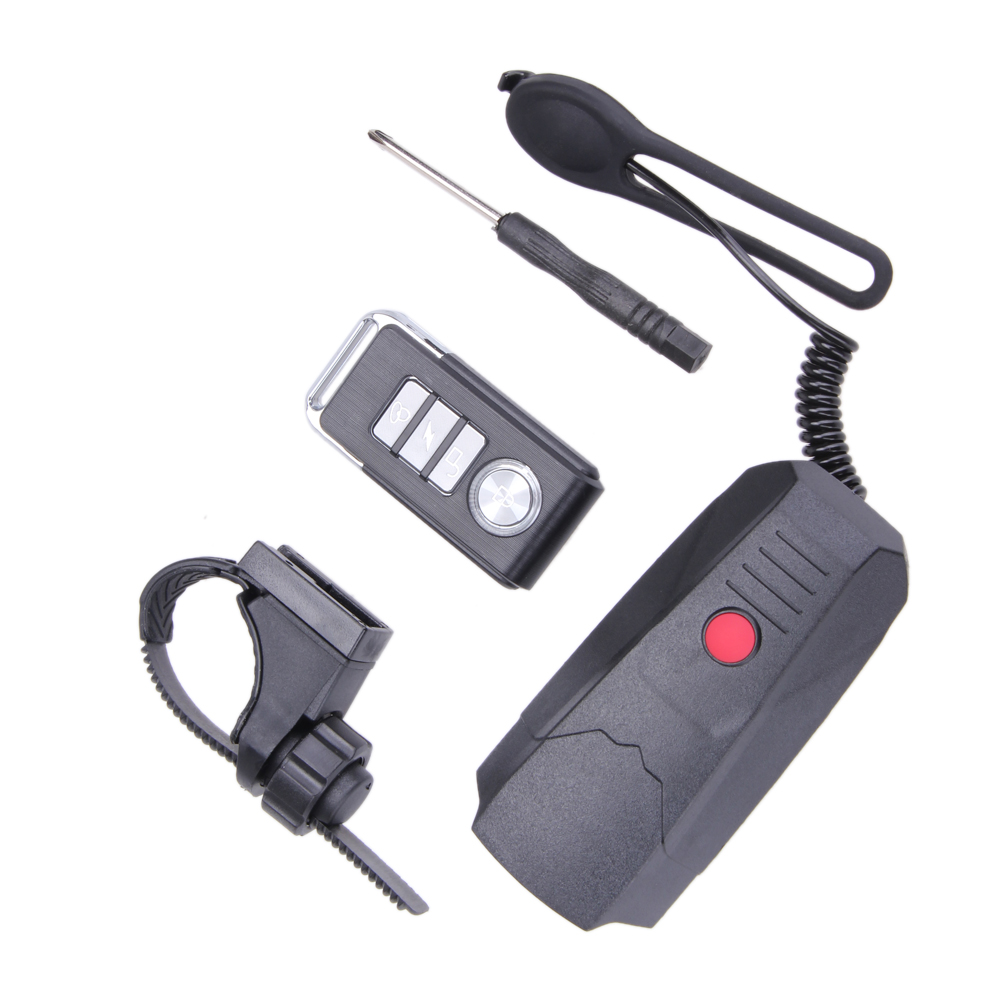 3 in 1 Wireless Remote Control Alarm Bicycle Bell Cycling Horns Electronic Bike Bicycle Handlebar with Light Horn Safety