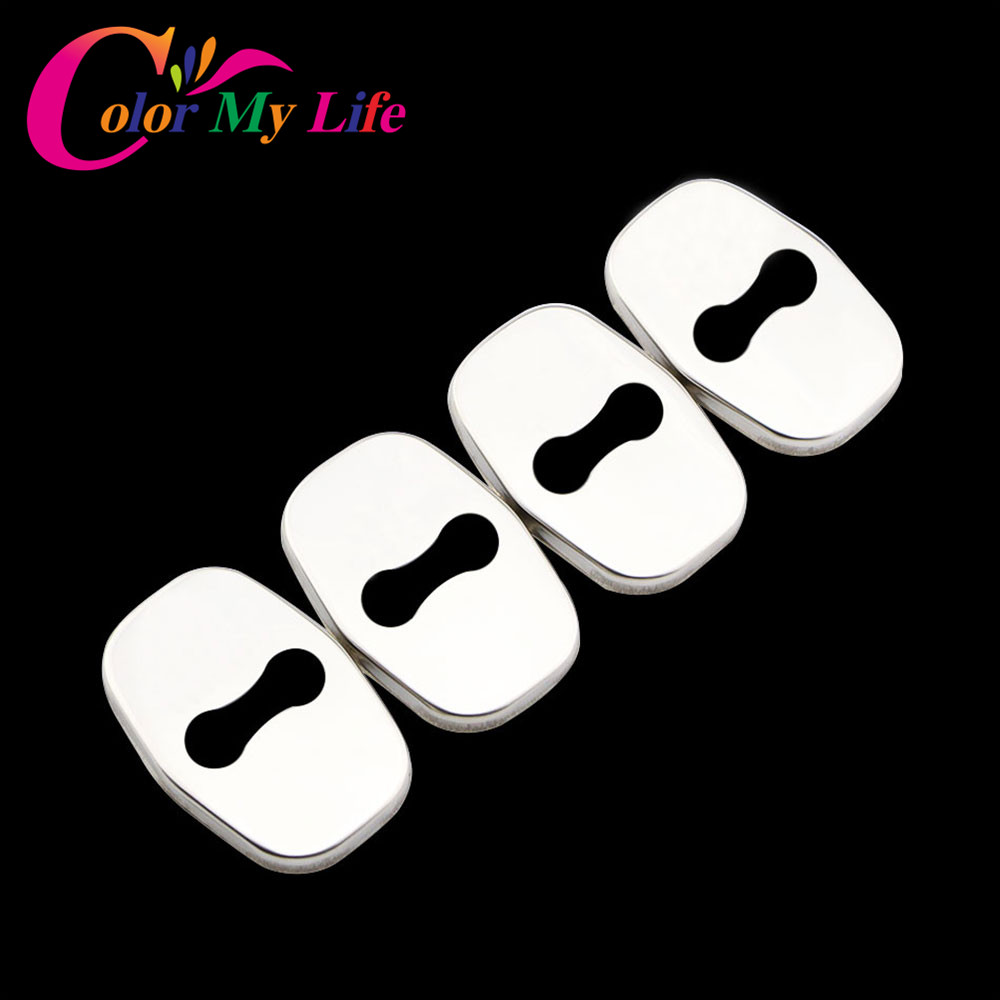 Buy Color My Life 4Pcs/Set Car Door Lock Cover for Peugeot 3008 2008 207 307 308 408 406 Anti Rust Waterproof Shakeproof Door Covers for only 1.93 USD