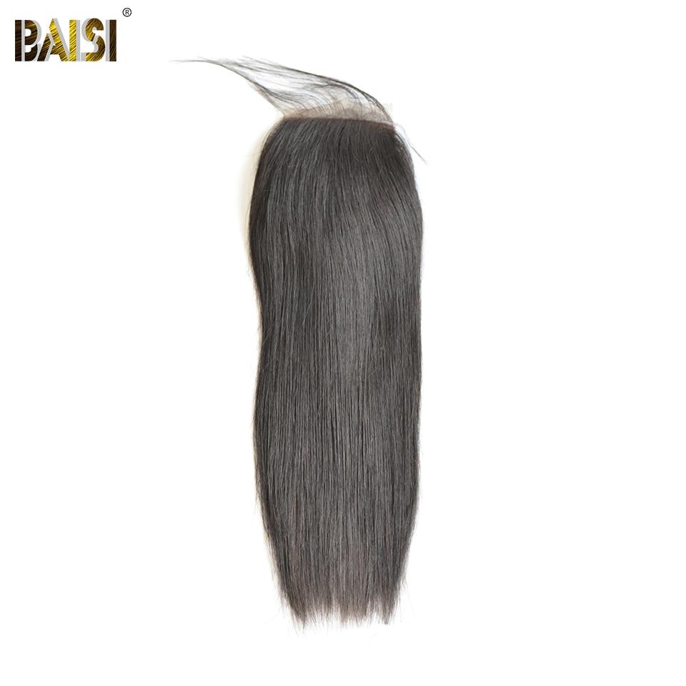 BAISI Peruvian Straight Silk Base Closure,Free Part Size 4*4,100% Virgin Hair Free Shipping