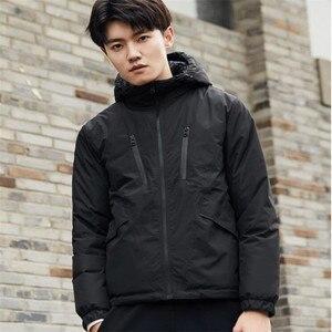 Image 5 - Xiaomi Uleemark mens double faced down jacket 90% goose down waterproof zipper double sided wearable waterproof jacket