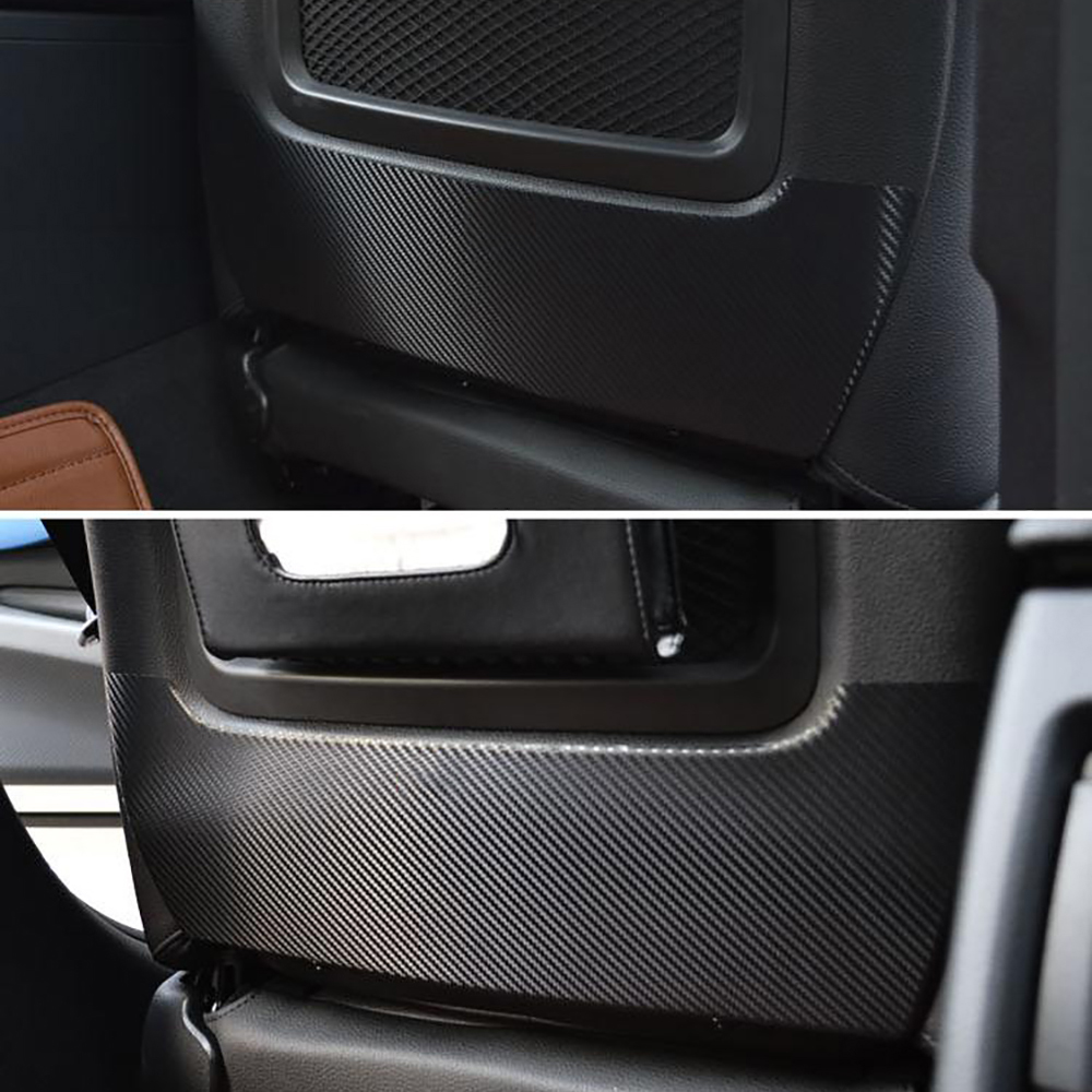 2PCS Seat Back Panel Carbon Fiber Anti Kick Dirty Protection Film Car Styling Sticker And Decals For BMW F20 F30 F35 Accessories