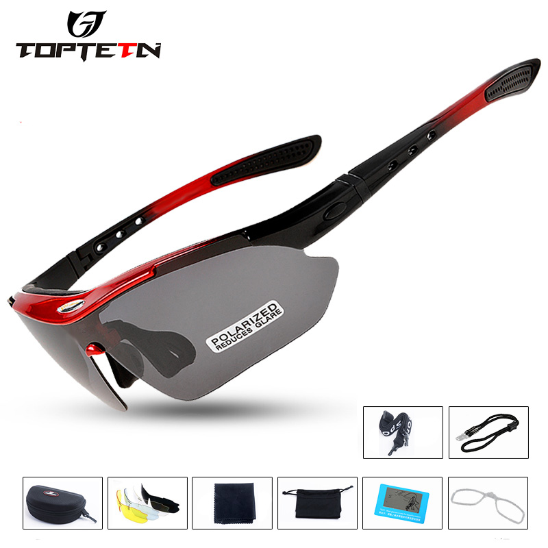 Sale Professional Cycling Glasses Bike Goggles Outdoor Sports Bicycle Sunglasses Uv 400 With 5 Lens Tr90 Color