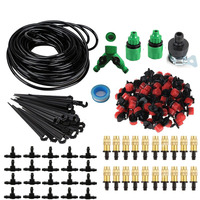 25m Garden DIY Automatic Watering Micro Drip Irrigation System Garden Self Watering Kits With Adjustable Dripper