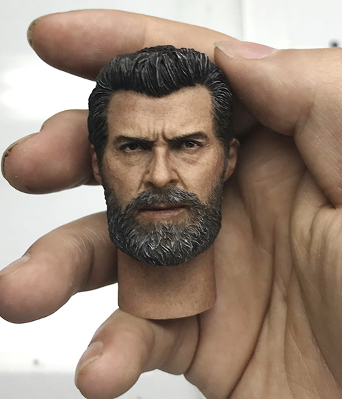 1/6 scale figure accesories Wolverine 3 Hugh Jackman Logan head sculpt Carved for 12 Action figure doll .not include body other туфли el tempo el tempo el072amvvl30