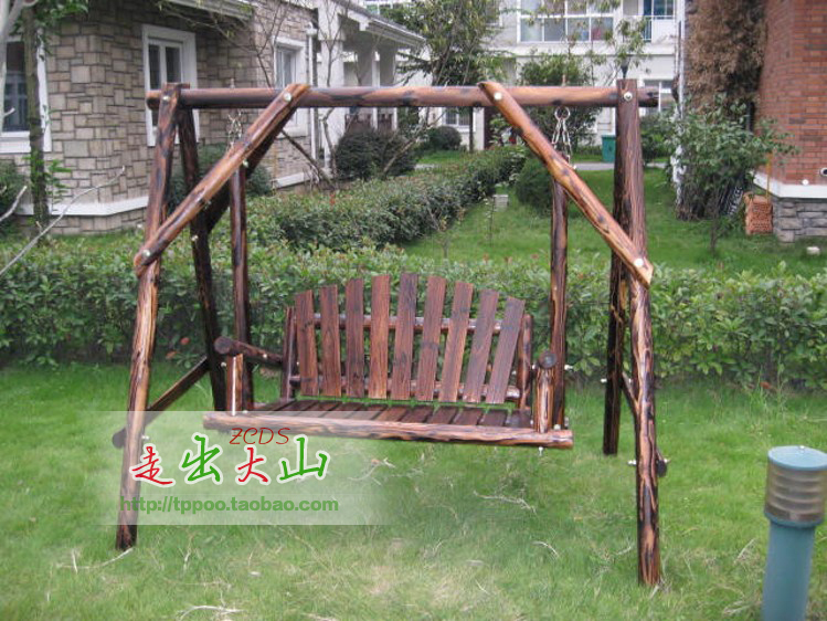 Special carbonized wood preservative outdoor garden style Wood tree swing and hanging kit