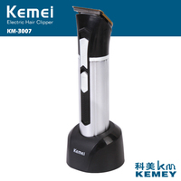 Keimei 3 Blades Hair Trimmer With Art Words Blade For Men Electric Haircut Machine Rechargeable Hair
