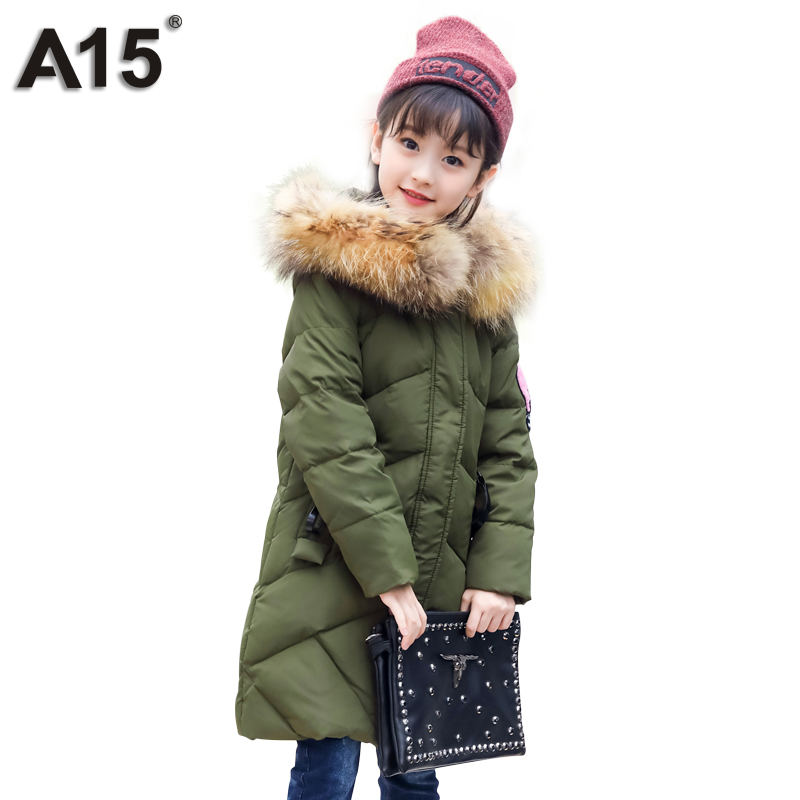 A15 Kids Winter Jacket for Girl Winter Parka Girls Green Teenager ...
