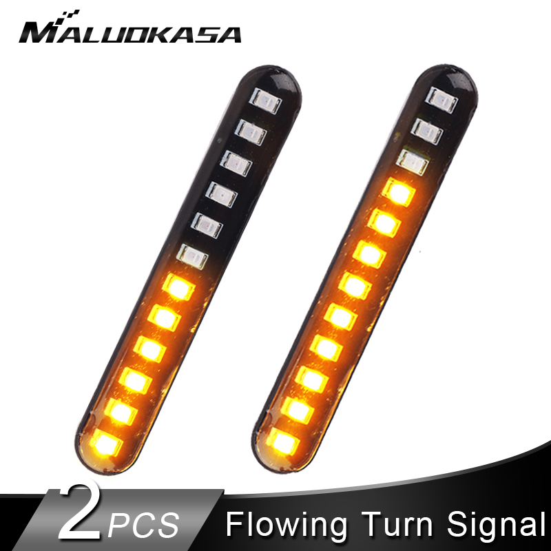 2PCS Motorcycle Turn Signals Strip Light IP68 Flowing Water Blinker Tail Flasher Light 12LED Flashing Motorcycle Turn Signal2PCS Motorcycle Turn Signals Strip Light IP68 Flowing Water Blinker Tail Flasher Light 12LED Flashing Motorcycle Turn Signal