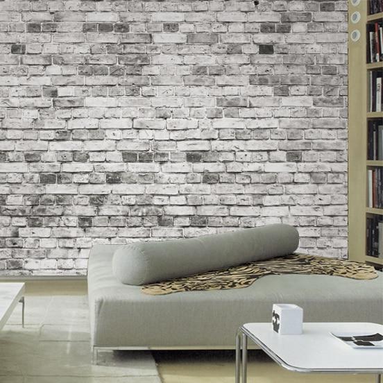 Online get cheap grey brick wallpaper for Cheap brick wallpaper