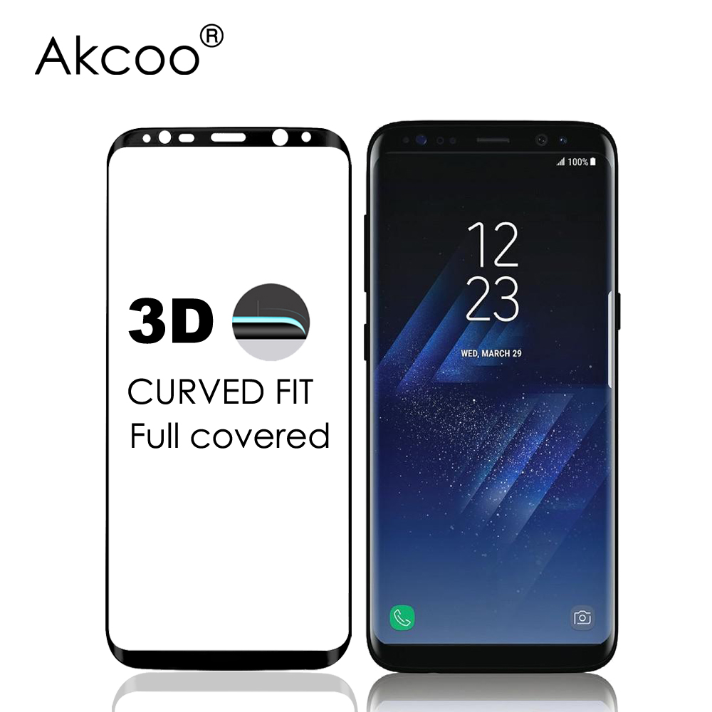 Akcoo novi 3D zakrivljeni zaštitni zaslon od kaljenog stakla s - Oprema i rezervni dijelovi za mobitele