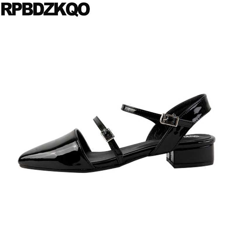 Patent Leather Closed Toe Shoes