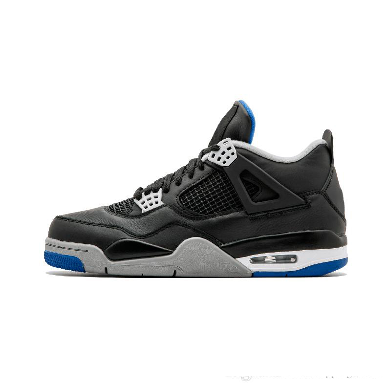 promo code 86955 9a43c Jordan Retro 4 Man Basketball Shoes Motorsport Raptor Black Red Toro oreo  Athletic Sport Sneakers Pure White New Arrival