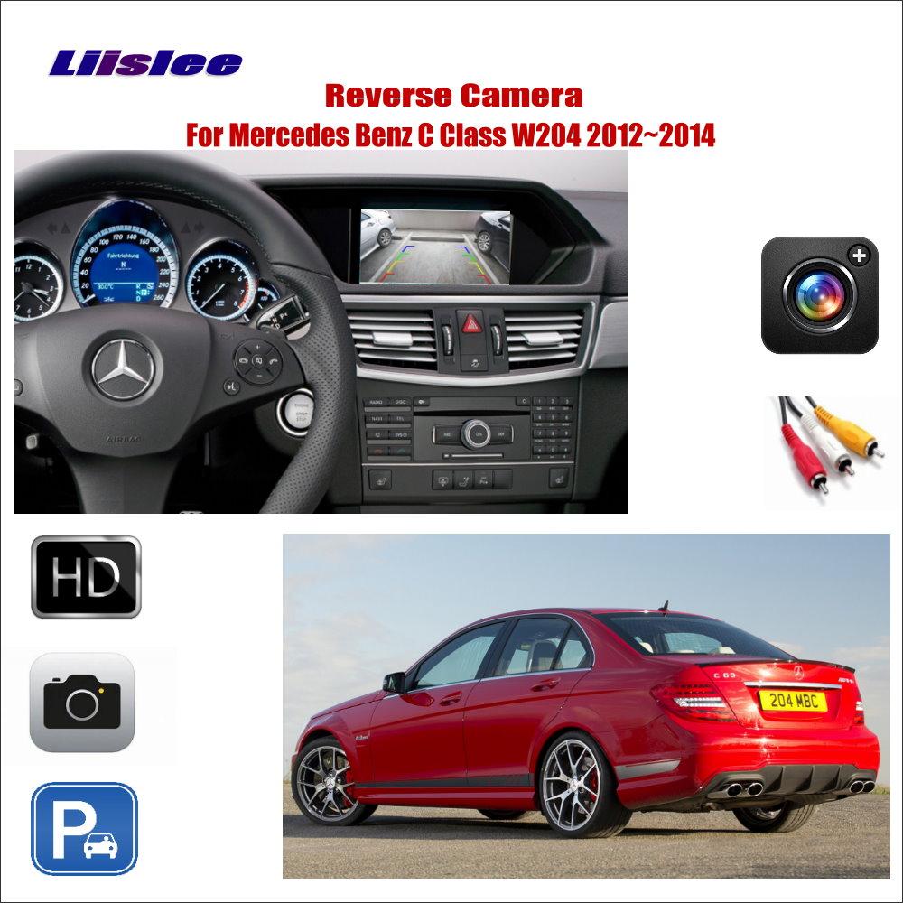Liislee For Mercedes Benz C Class W204 2012~214 Car Reverse Rear  View Camera / Connect The Original Factory Screen