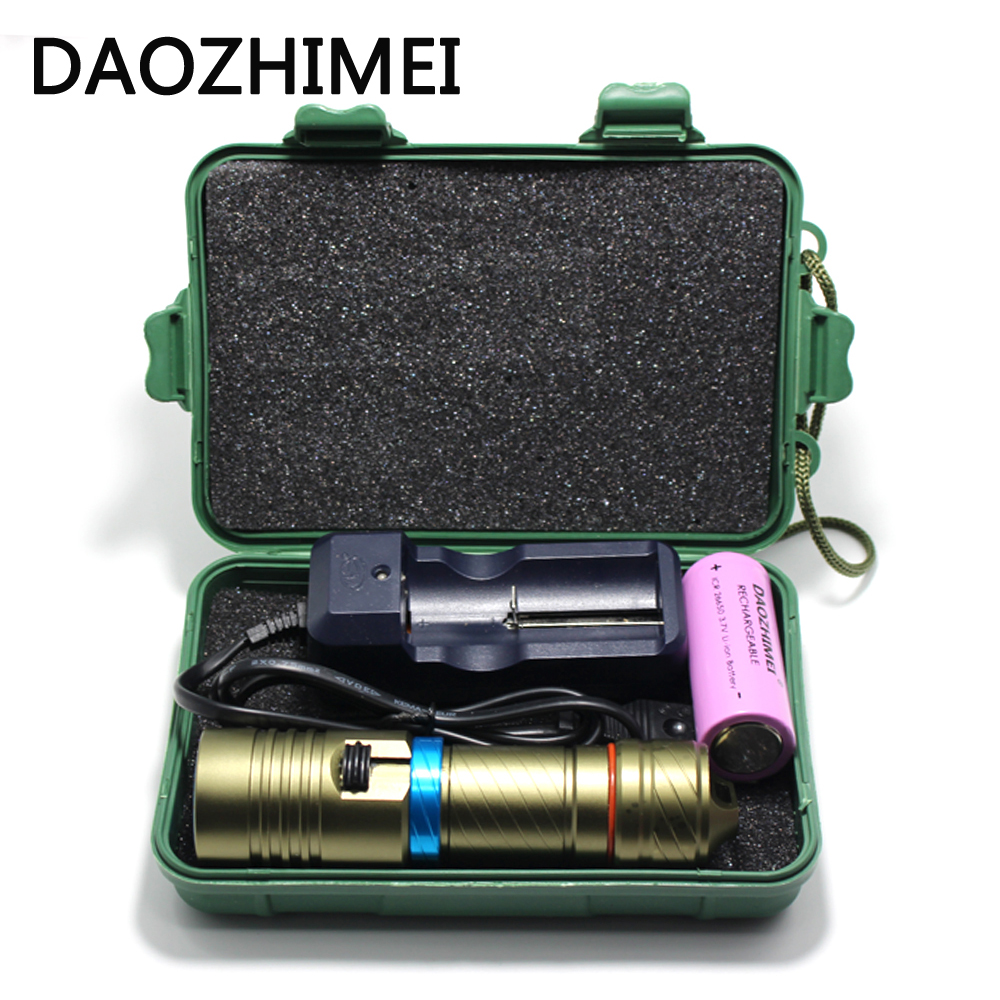 5000Lm 100M underwater diving flashlight led scuba flashlights light torch diver XM-L2 Use 18650 OR 26650 rechargeable batteries cree xm l l2 5000lumens 18650 or 26650 rechargeable batteries scuba diver flashlight led torch underwater diving light lamp