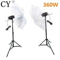 360w Godox K 180A Studio Flash Lighting Kits Strobe Light & Reflective Umbrella & Stand PSK180F3 Photo Studio Accessories