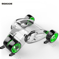 SGODDE Foldable 4 Wheels Power Wheel Triple AB Abdominal Roller Abs Workout Fitness Machine Gym Knee Pad High Quality