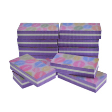 4pcs/lot Nail File Sanding Purple Block Colorful Lips Pro Designs Manicure Polishing Grinding For Women Care Tools Set TR17