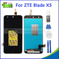 Черный 100% Новый Полный ЖК-Дисплей + Сенсорный Экран Планшета Замена тяга Для ZTE BLADE X5/BLADE D3 T630 + инструменты