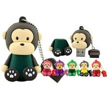 Hot Sale Cartoon animal Monkey USB Flash Drive Pendrive 4GB 8GB 16GB 32GB USB Stick External Memory Storage Pen Drive cute gift