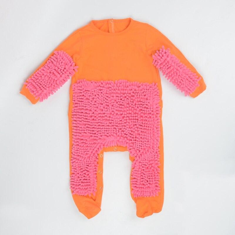 Горячая Детские Mop комбинезон унисекс для мальчиков и девочек полирует очистки этажей костюм-швабра осень-зима дети ползет малыша Swob комбинезон