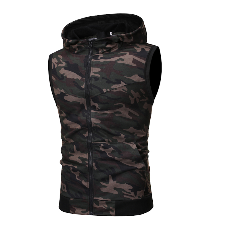 2019 Summer New Men'S Hot Classic Sports And Leisure Camouflage Set Sleeveless Vest, Camouflage Shorts 2 Piece Sports Suit 4
