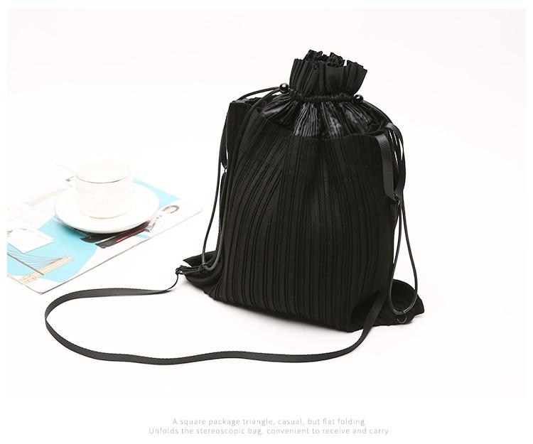 Miyake New Shoulder Bag Personalized Fashion Mini Bag Bundle Port Portable Handbag
