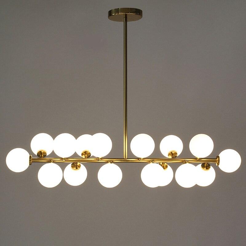 Longueur 1000mm or/noir haricot magique led pendentif lumières salon salle à manger boutique moderne led réglette en verre pendentif lampe luminaires
