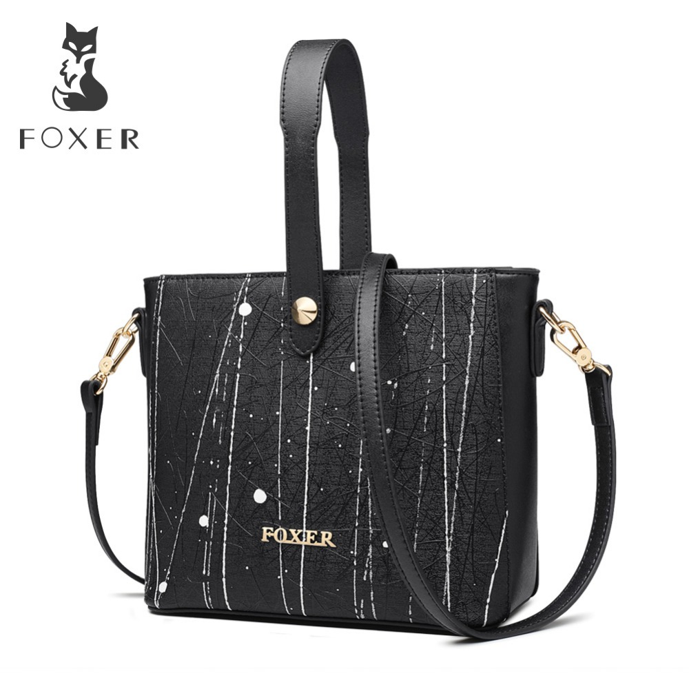 FOXER Brand New Fashion Lady Graffiti Handbag Korean Version Shoulder Bags Exclusive Customization Women Crossbody BagsFOXER Brand New Fashion Lady Graffiti Handbag Korean Version Shoulder Bags Exclusive Customization Women Crossbody Bags