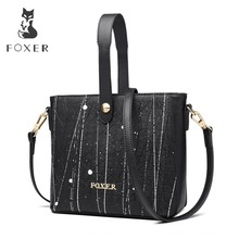 FOXER Brand New Fashion Lady Graffiti Handbag Korean Version Shoulder Bags Exclusive Customization Women Crossbody Bags все цены