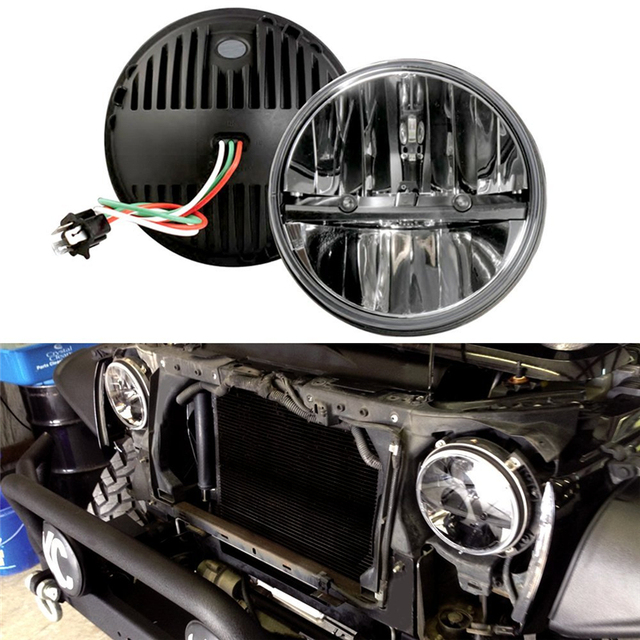 com buy 7 inch round led headlights high low beam for jeep wrangler. Cars Review. Best American Auto & Cars Review
