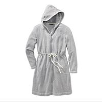 Nightgown Women's Robes zipper Cotton velvet With Hat Women Lounge plus size available bathrobe