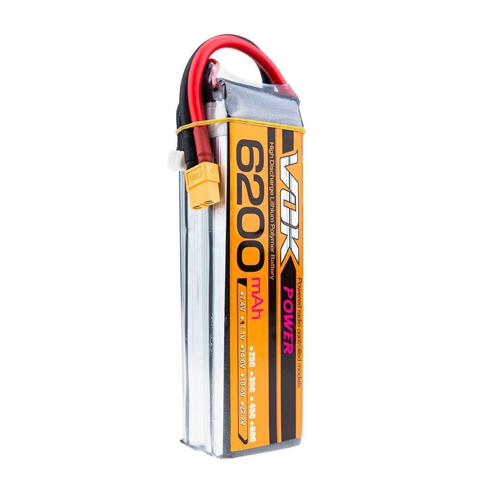 ФОТО VOK Lipo Battery 4S 14.8V 6200MAH 30C MAX 40C XT60 Plug Li-Po RC Battery For Rc Helicopter Car Boat 4S Free shipping