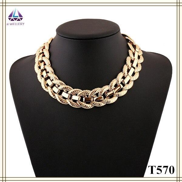 9f2cbf66cd48 Precio de fábrica Hecho A Mano Collar de Gargantilla de Oro Grueso Collar  de Cadena para las mujeres en Collares pendientes de Joyería y accesorios  en ...