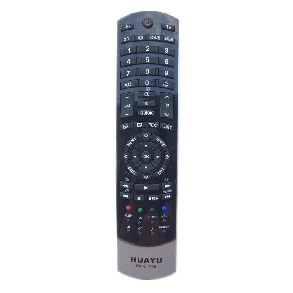 RM-L1178 <font><b>Remote</b></font> <font><b>Control</b></font> <font><b>for</b></font> Toshiba LED TV with 3D buttons by HUAYU