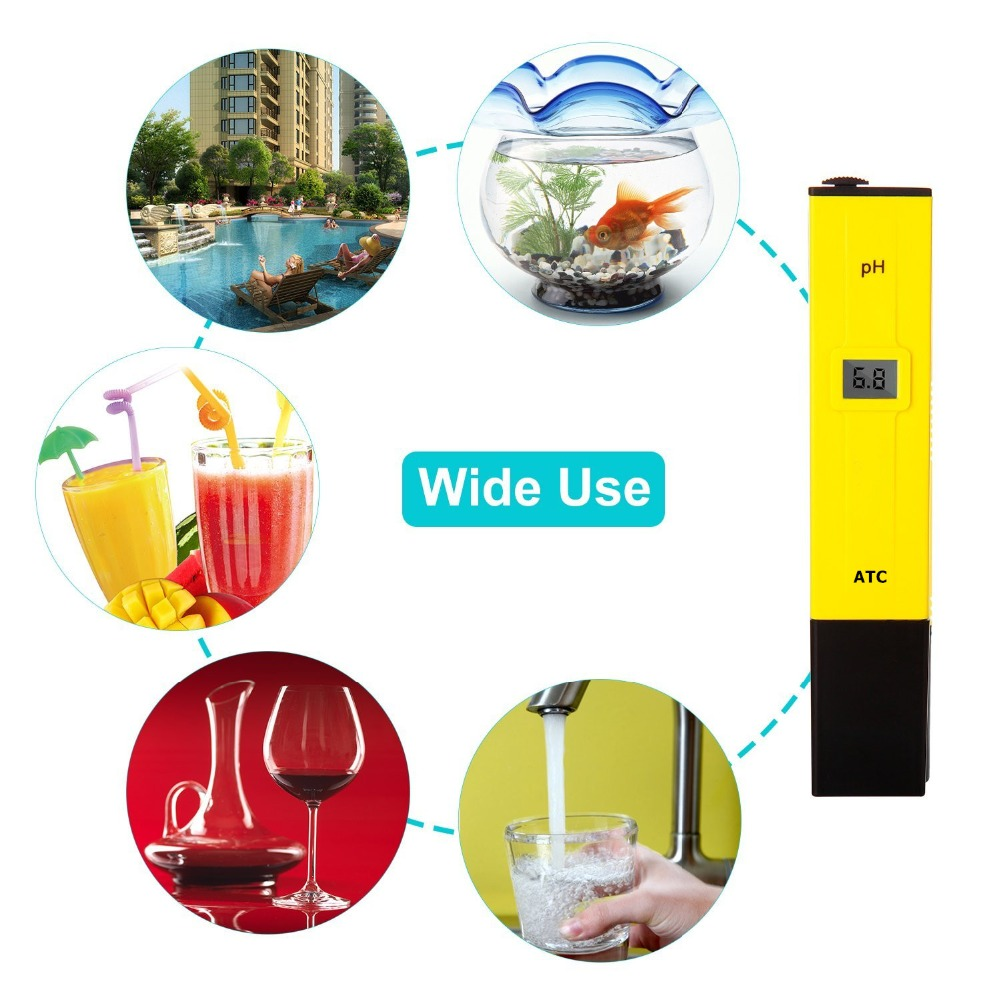 digital pH meter Ph pen tester acidity water PH meter professional for Home school Aquaculture laboratory aquarium swimming pool ct 6821 ph tester meter swimming pool tester orp water quality meter tester aquarium ph meter orp ph 2in1