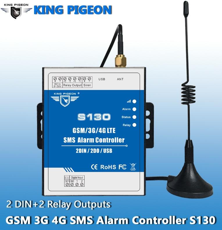 S130 Livraison Gratuite GSM/SMS/3g/4g D'alarme À Distance Contrôleur Peut Être Exploité À Partir De N'importe Où aucune Limitation de Distance 2 Entrées Numériques