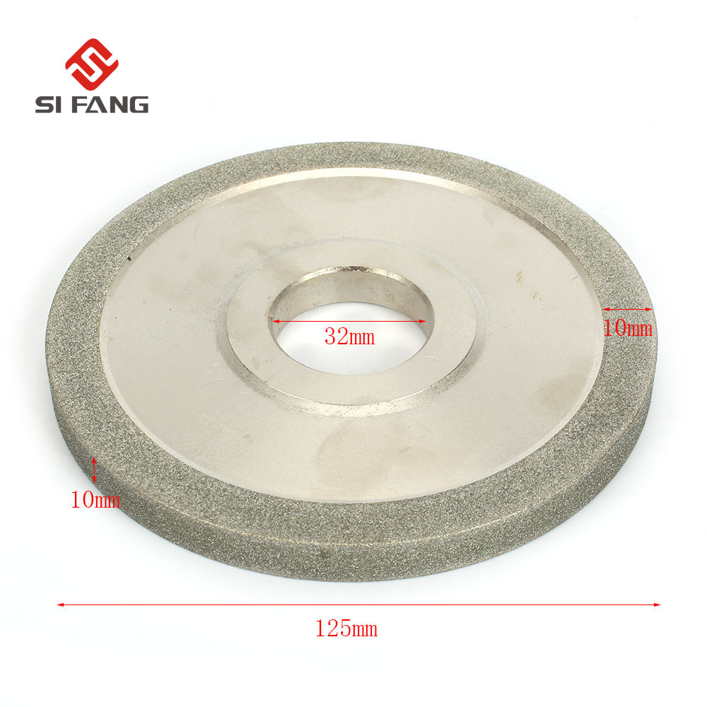 125MM Electroplating parallel Diamond Grinding Wheel Grinding Circles For Tungsten Steel Milling Cutter Tool Sharpener Grinder erm20 end milling cutter 4 20mm tungsten grinders universal grinder automatic grinding machine 220v 1pc