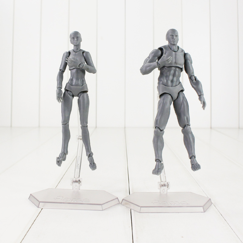 Anime Brinquedos PVC Body Action Figure Collectible Model Doll Figma Female Male Kun Chan Figures
