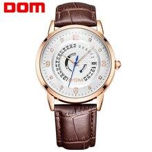 DOM mode en cuir sport quartz montre pour homme militaire chronographe montres hommes armée style 2020 livraison gratuite M-45