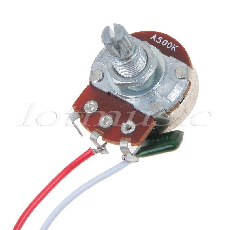 kmise strat guitar wiring harness 5 way blade switch 500k full size rh aliexpress com