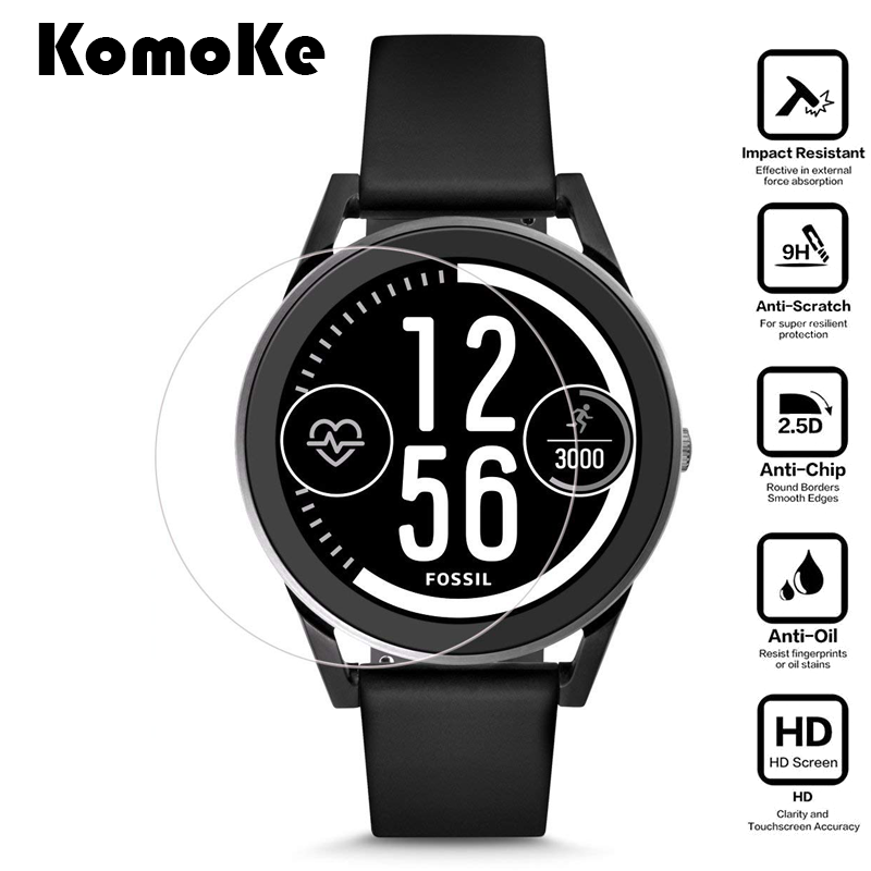 US $2 19 |For Smart Watch Fossil Gen 3 Sport Smartwatch Q Control Tempered  Glass Protective Film Clear Guard Screen Protector Cover-in Smart