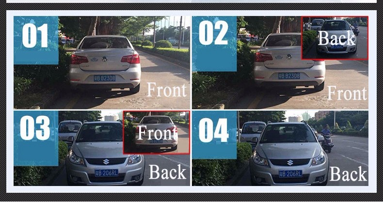 E-ACE Car Dvr Camera Led Lights Blue Rearview Mirror FHD 1080P Night Vision Video Recorder Dual Lens Auto Registrator Dash Cam 11