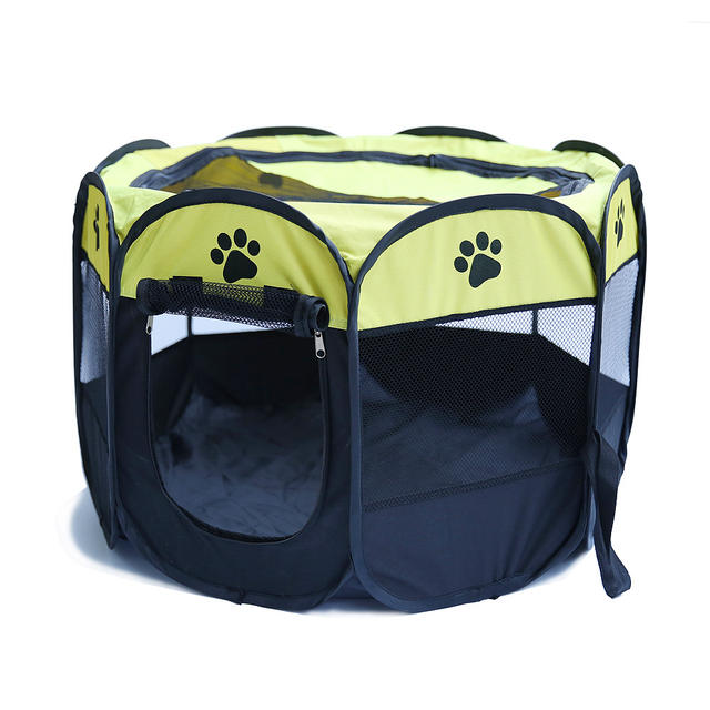 Play yard tent for dog cat fence cage puppy kennel large folding space